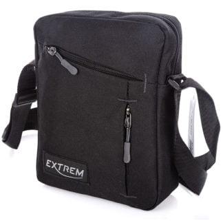 Czarna niewielka torba męska na ramię Extrem