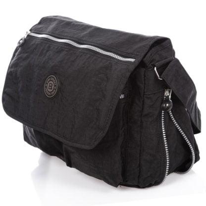 poszerzana czarna duża torba męska na ramię